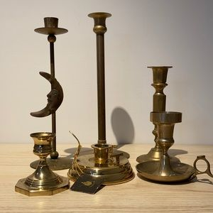 Group of candle holders made of Brass